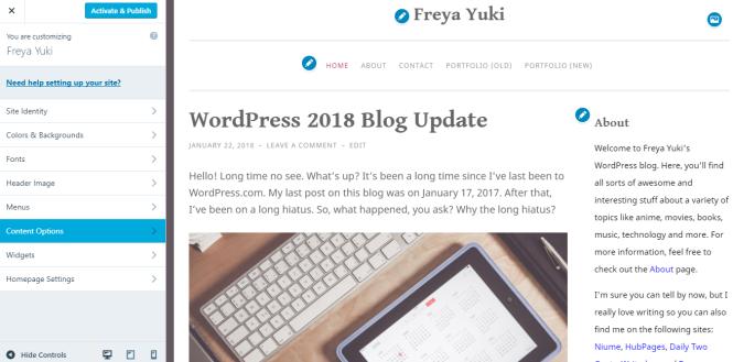 penscratch 2 wordpress com blog theme quick review freya yuki